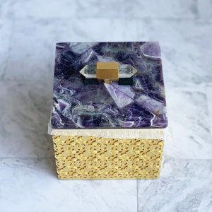 NEW Kendra Scott Square Filigree Box Amethyst